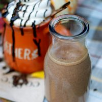 Pumpkin Mocha Latte Coffee Creamer in a karafe