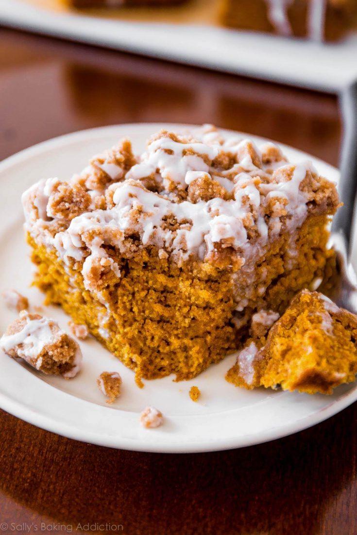 Iced Pumpkin Coffee Cake