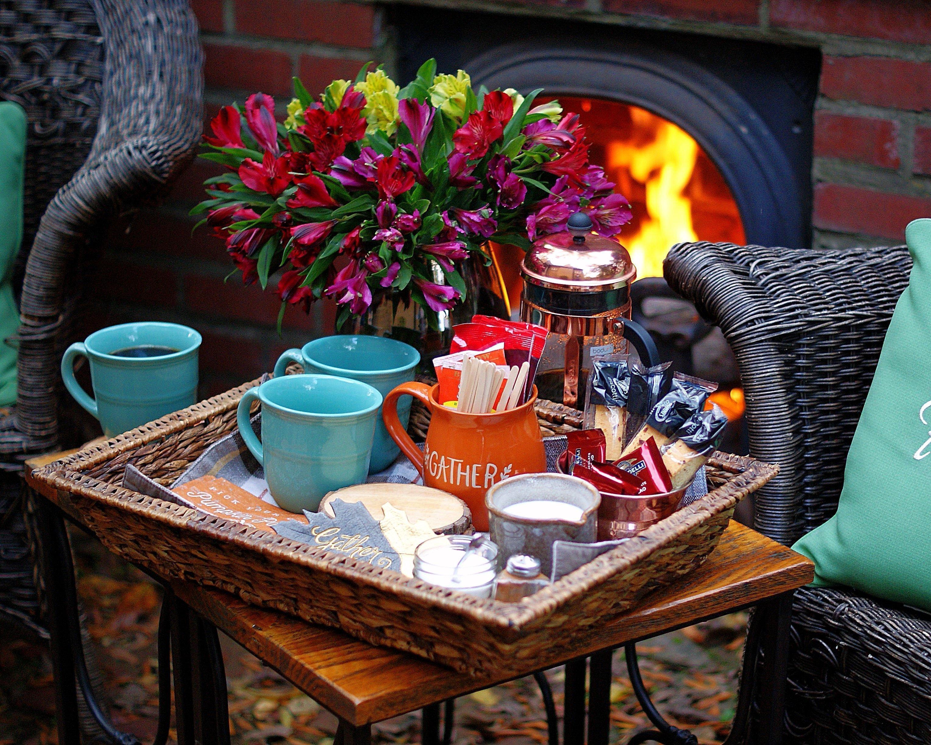 Coffee Station with basic coffee needs.