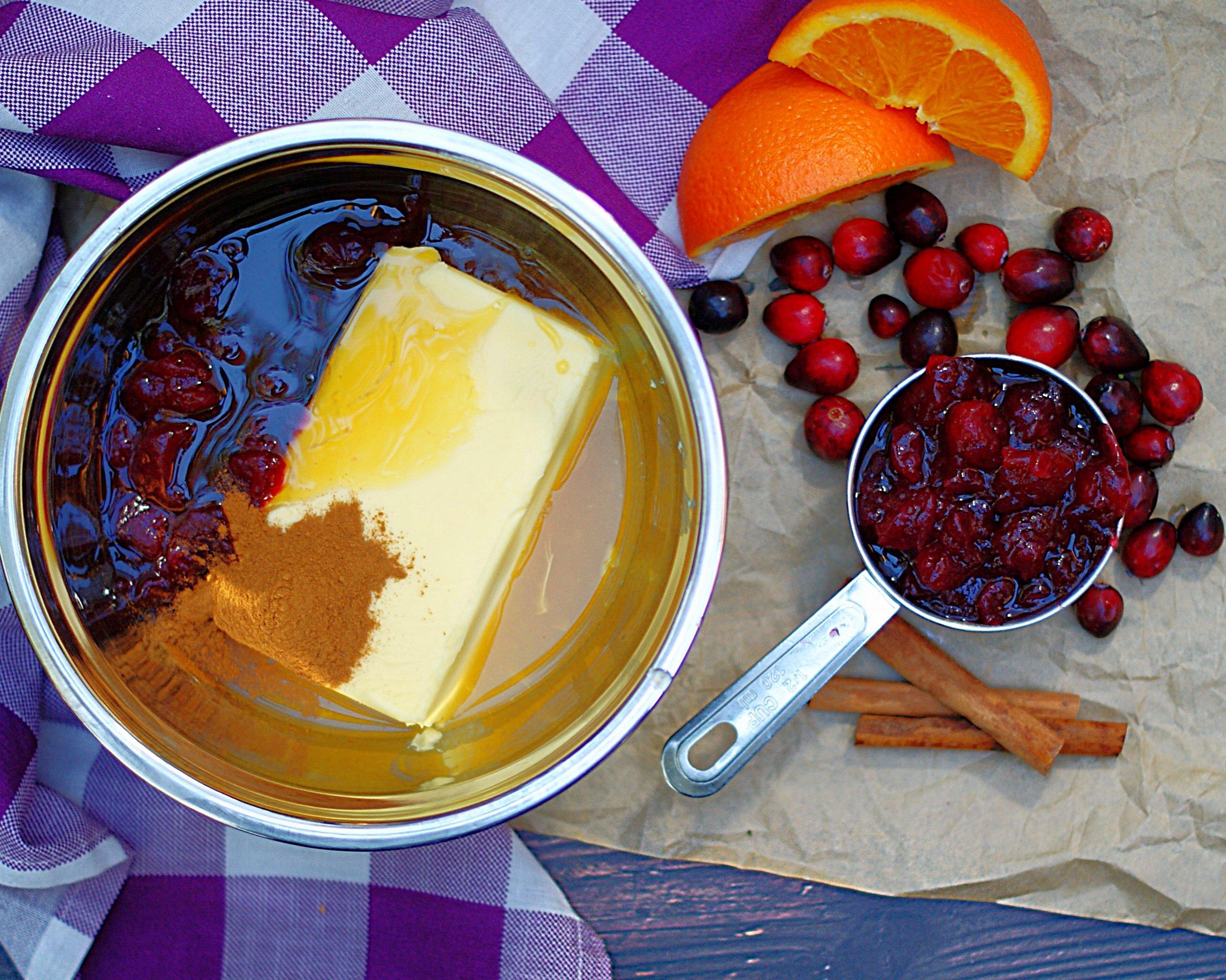 Cranberry Orange Butter ingredients