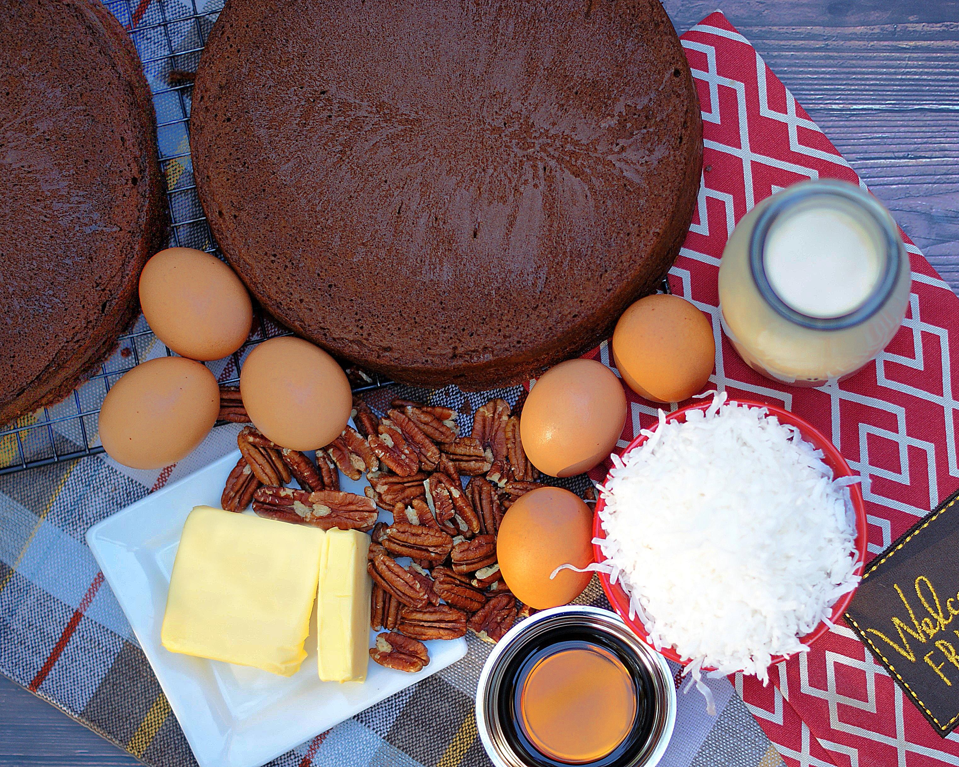 German Chocolate Cake Ingredients