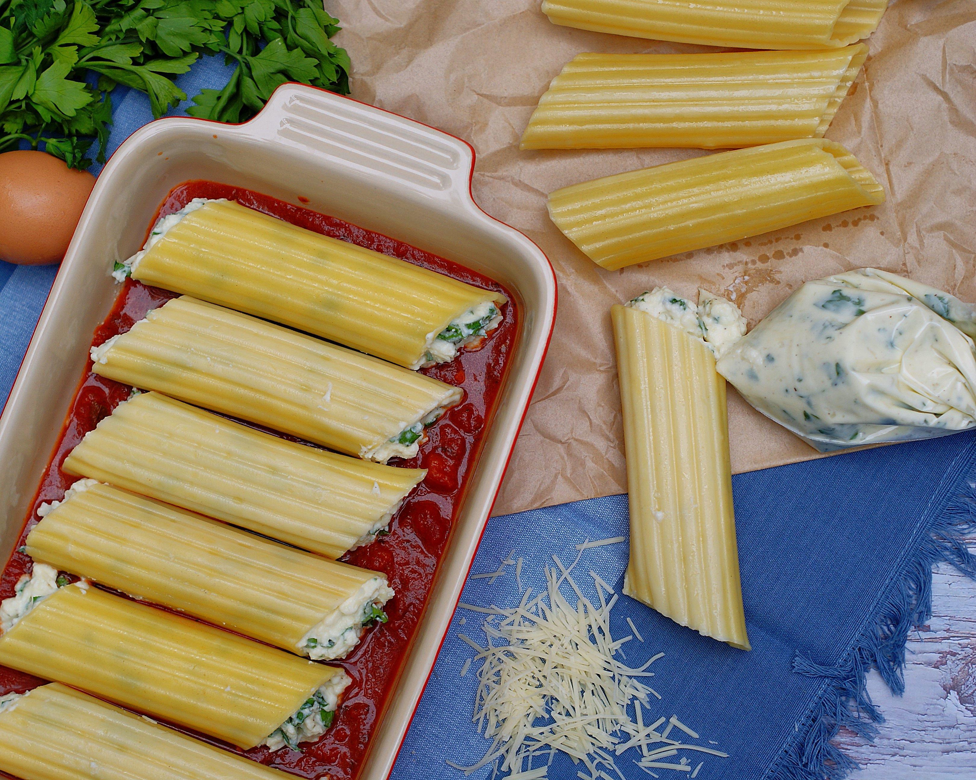 3 Cheese Manicotti process photo