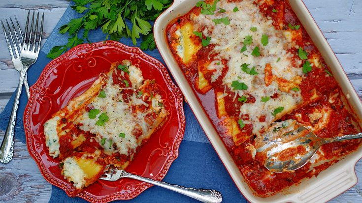 Classic 3 Cheese Baked Manicotti