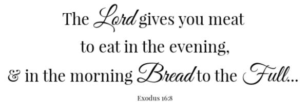 Shortcut Pull Apart Rolls Scripture- Exodus 16:8
