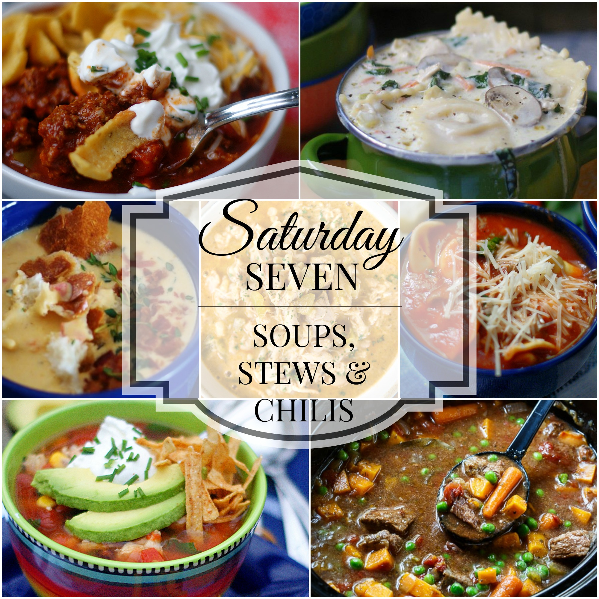 Soups, Stews & Chilis Title Collage