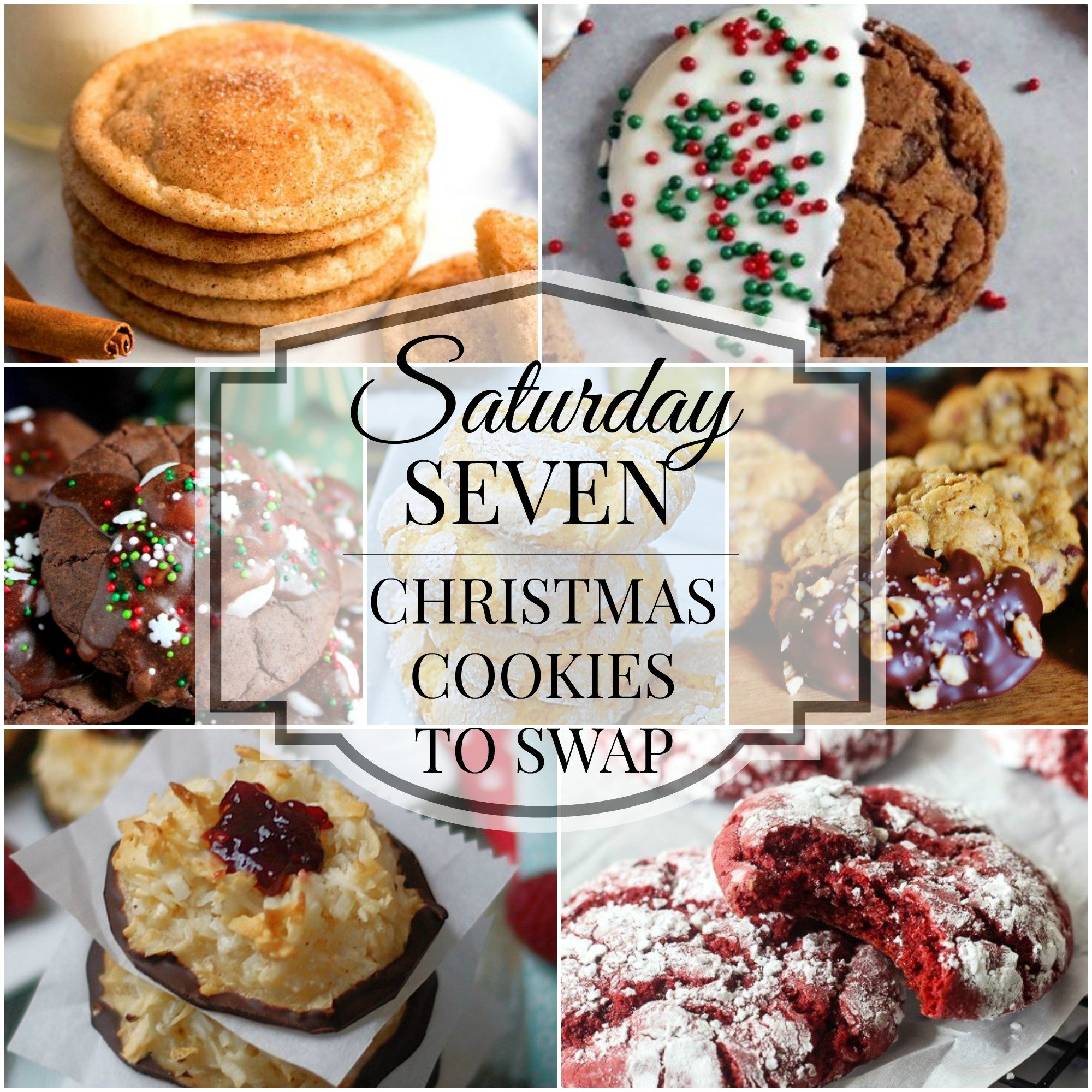 Saturday 7 Christmas Cookies Title Collage