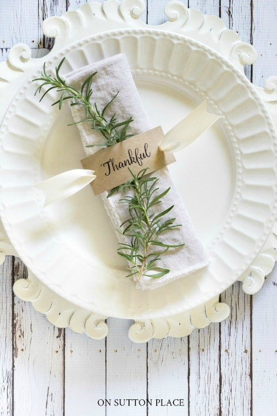 Thanksgiving Napkin Rings | Free Printable - On Sutton Place