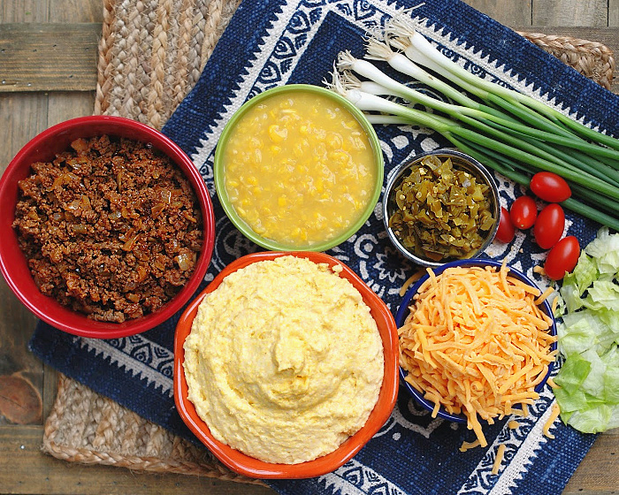 Ingredients to make Mexican Cornbread