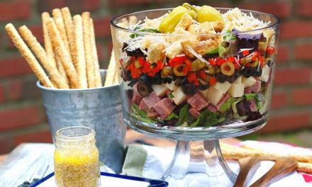 Layered Muffuletta Salad