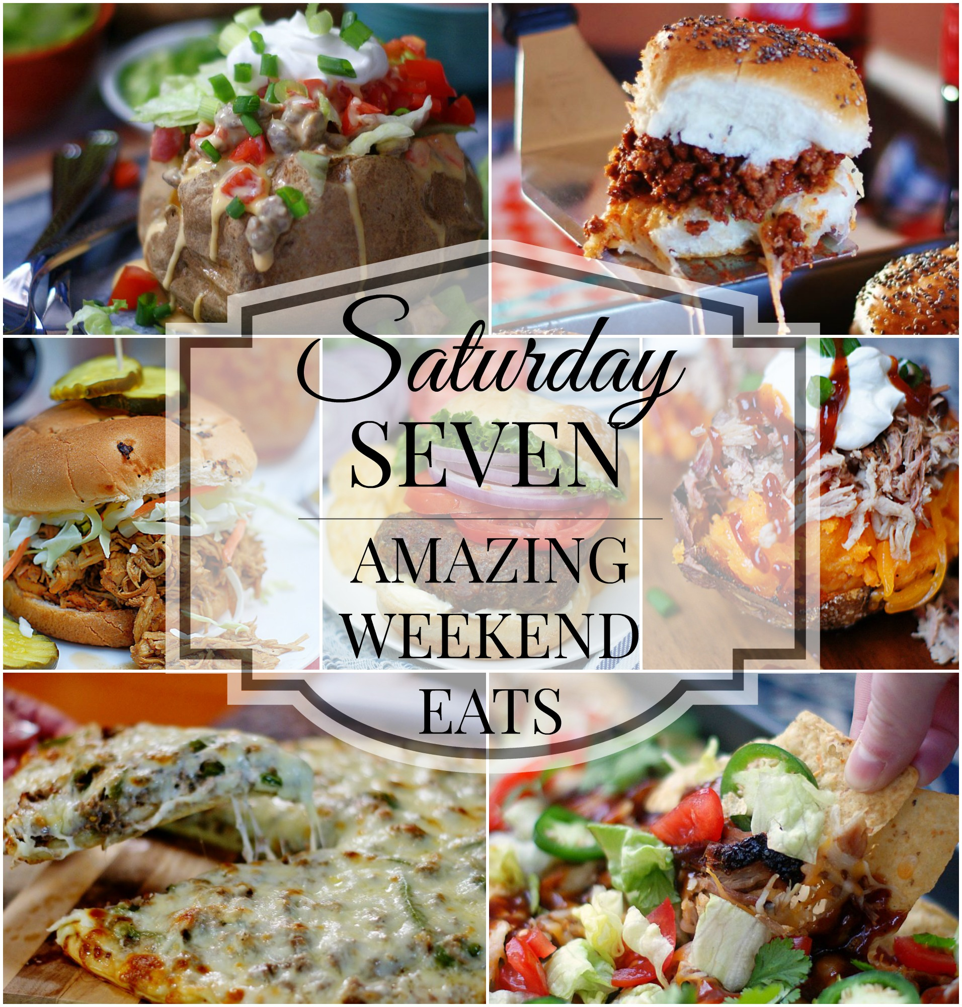 weekend recipes title collage