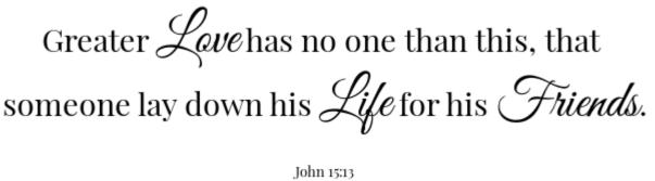 Cinnamon Banana Bread Scripture John 15:13