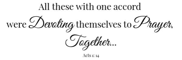 Muffaletta Salad Scripture- Acts 1:14