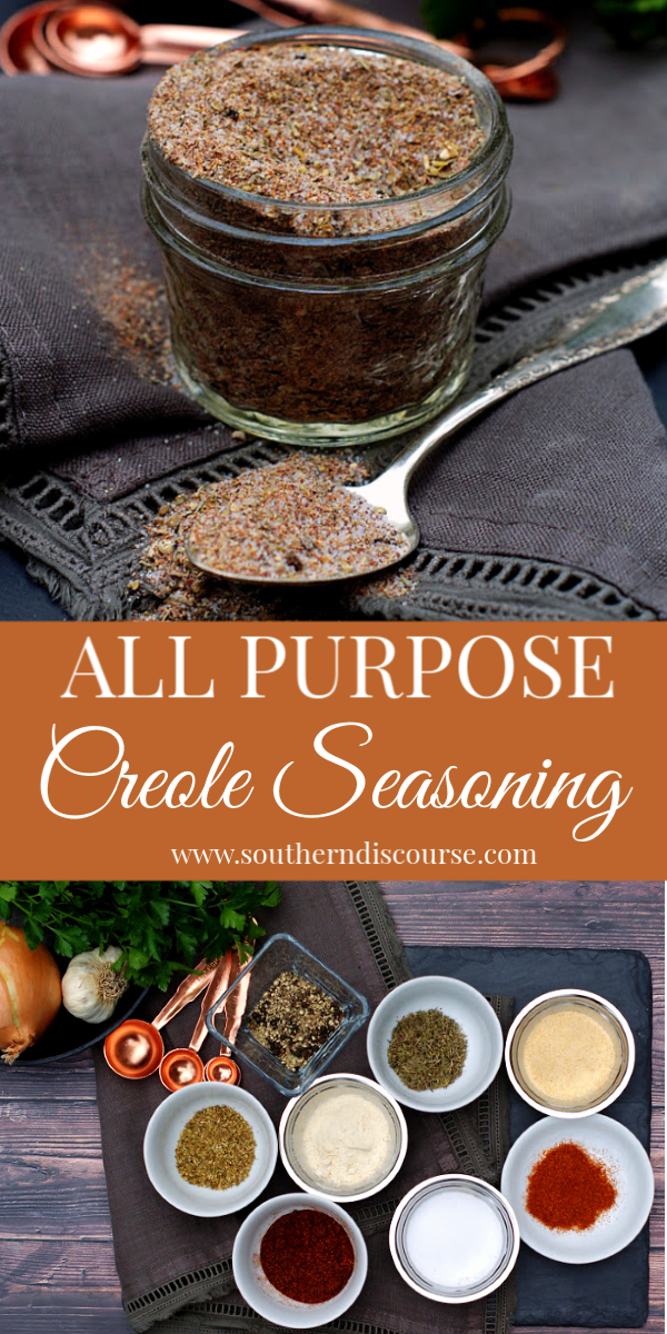 This simple recipe for homemade Creole seasoning make having authentic New Orleans flavor at your finger tips a snap! Perfect for chicken, pork, shrimp, fish & pasta. #cajunseasoning #uses #mix