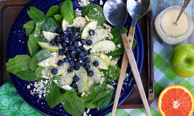 Blueberry Spinach Salad with Orange Poppy Seed Dressing