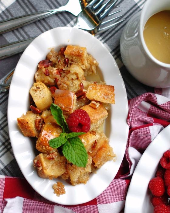 Southern Bread Pudding with Whiskey Sauce