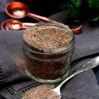 An upclose of all purpose creole seasoning