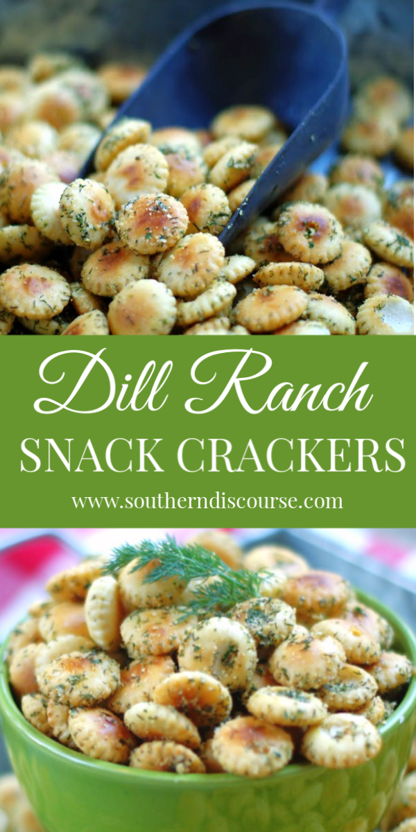 This zesty easy snack cracker recipe comes together in a snap with simple Ranch dressing herbs & spices, the bite of dill & oyster crackers. #homemaderanchseasoning #garlicpowder # gameday #tailgaterecipes #partyfood