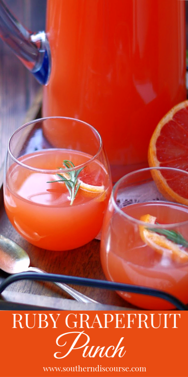 This pretty pink punch is an elegant blend of Ruby Red Grapefruit juice, Pineapple Juice, Pink Lemonade and citrus. The best punch. So easy! #bridal #baby #showers #receptions #parties #MothersDay #graduation #holiday