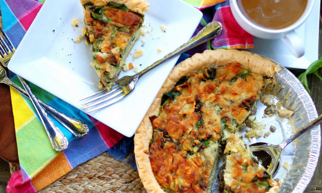 Sausage Mushroom Quiche with Parmesan