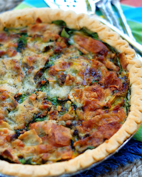 Sausage Mushroom Quiche with Parmesan Feature