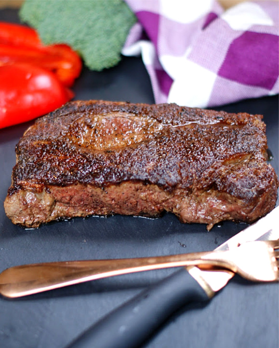 A perfect cast iron skillet steak