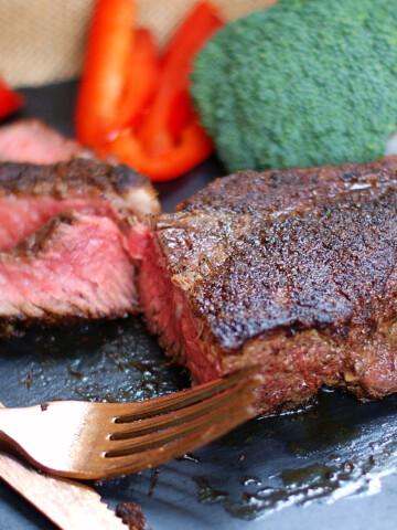 Cast Iron Skillet Steak Title