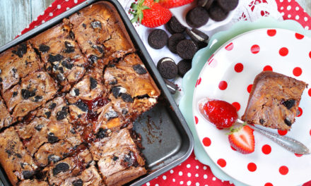 Loaded Strawberry Jam Brownies