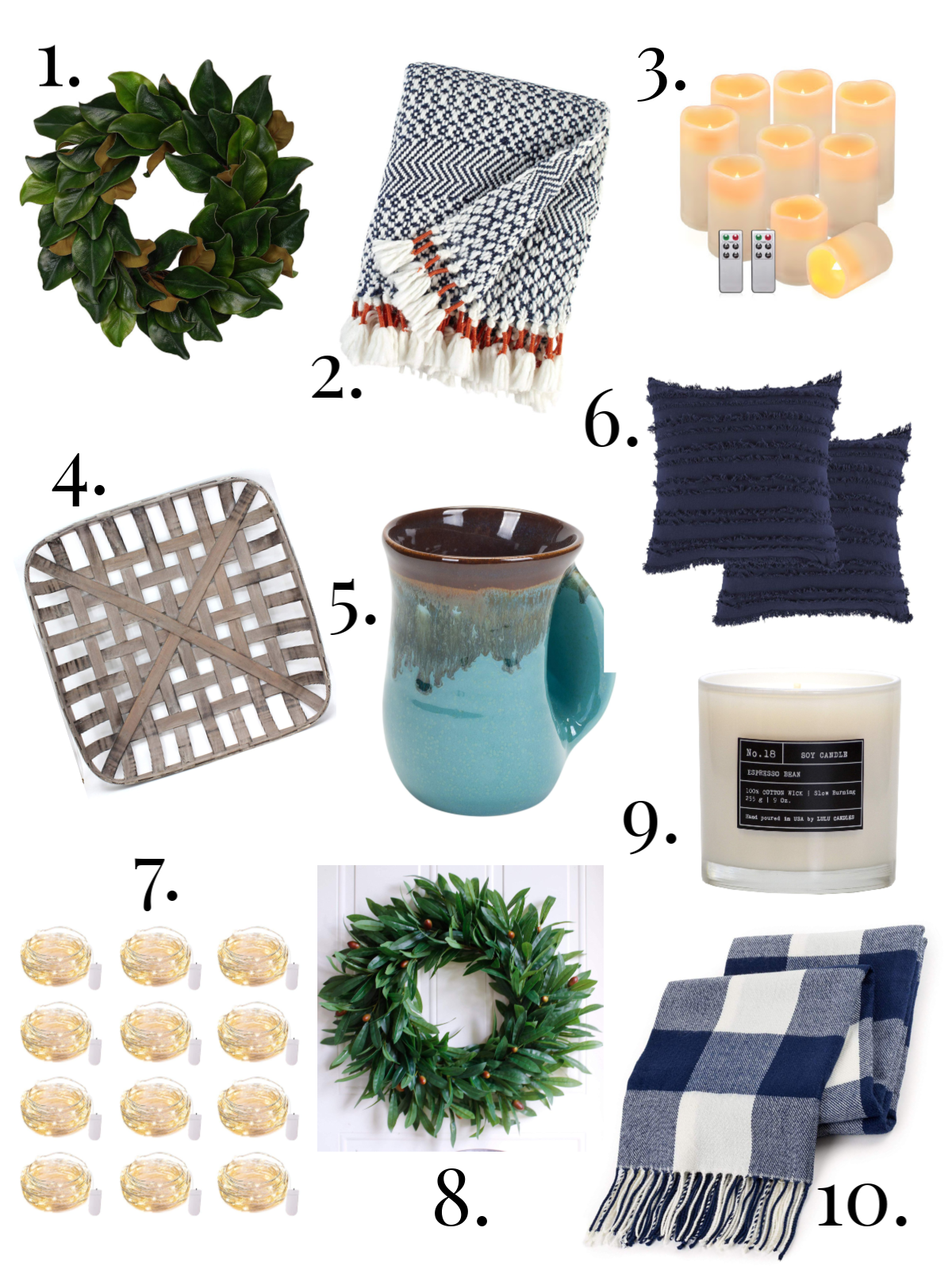 Numbered List of Peaceful Home Must Haves