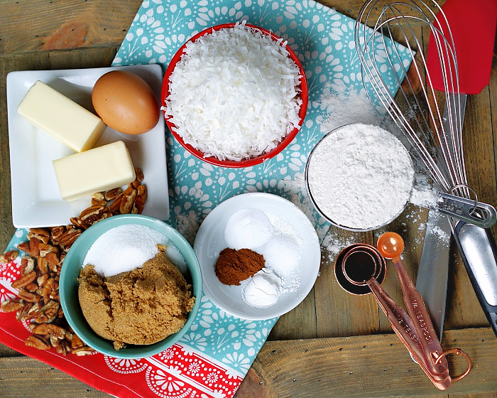 Coconut Cookies Ingredients