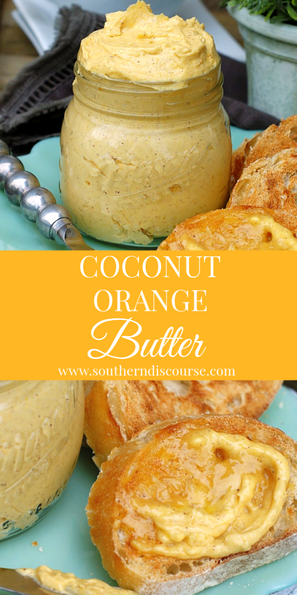 Easy whipped coconut orange butter is delicious for pancakes, biscuits, dinner rolls, scones and more! Perfect for holidays, showers, and special occasions. #whippedbutter #compoundbutter #orangebutter