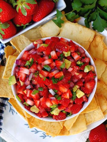 Avocado strawberry salsa title