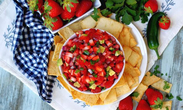 Fresh Avocado Strawberry Salsa