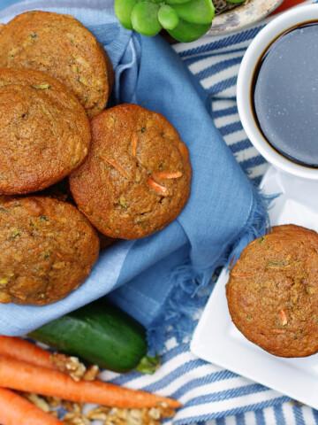 Best Carrot Zucchini Muffins Title