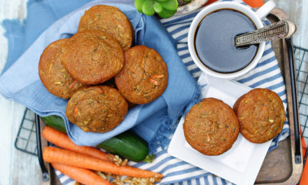 Delicious Carrot Zucchini Muffins with Walnuts