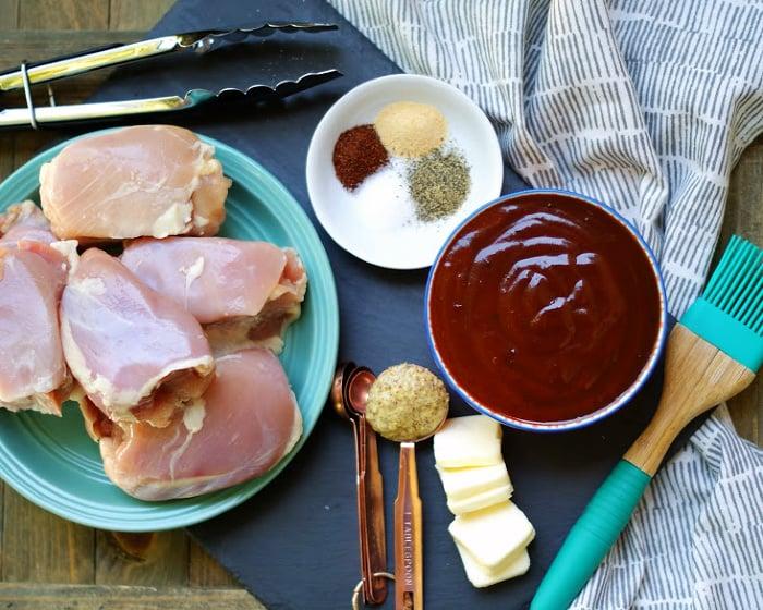 Boneless Crock pot BBQ Chicken Thighs Ingredients