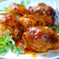 Easy Boneless BBQ Chicken Thighs