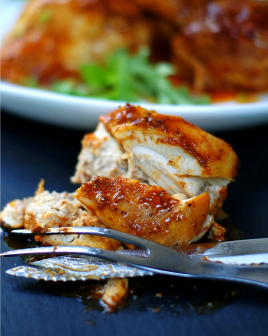 Crock Pot Boneless BBQ Chicken Thighs