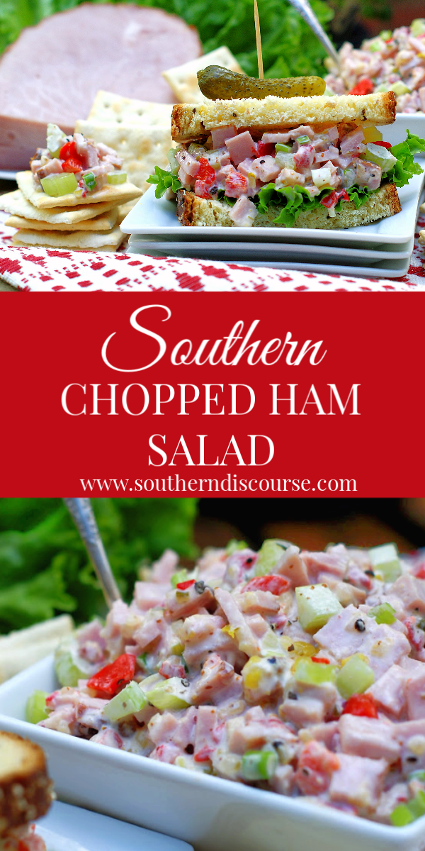 Never wonder about how to make the best ham salad again! Not your average sandwich spread, this chunky chopped ham salad is perfect as appetizer with crackers or on your favorite bread! #hamrecipes #leftoverhamrecipes #sandwichspreads