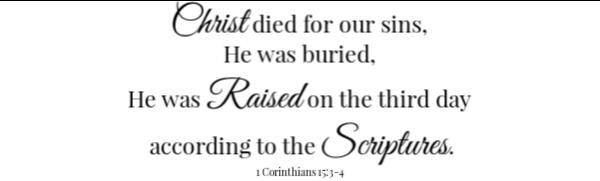 Ham Salad Scripture 1 corinthians 15:3-4
