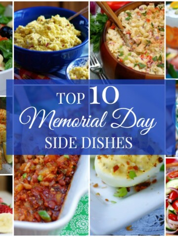 10 classic cook out side dishes to celebrate Memorial Day. #memorialdayfood #feedacrowd #potluckrecipes