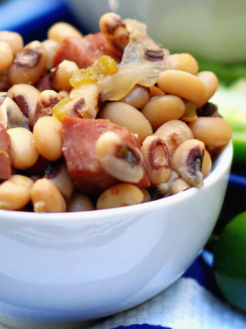 Slow cooker Black Eyed Peas Title