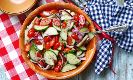 Southern Tomato Cucumber Salad with Vinegar Dressing