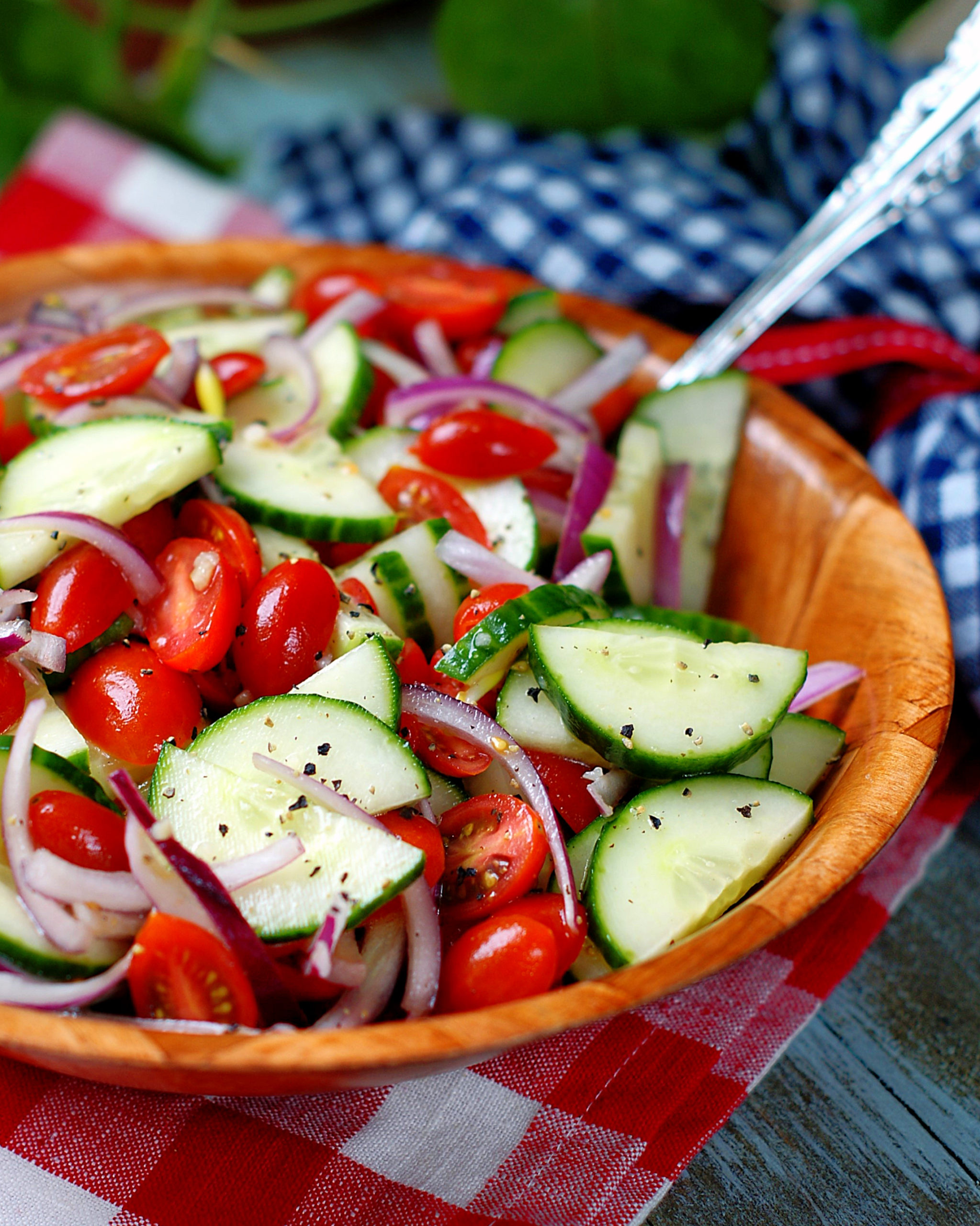 Marinated Tomato Cucumber Salad