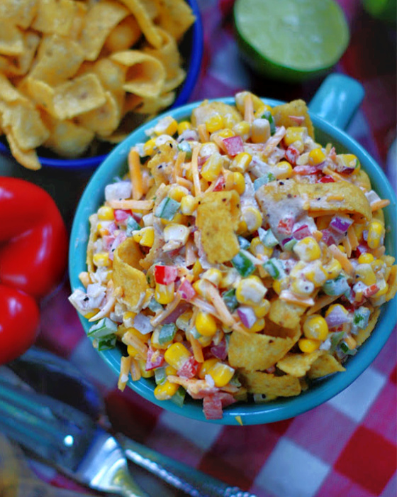 Frito Corn Salad overhead view