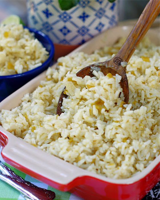 Easy Mexican Green Chile Rice