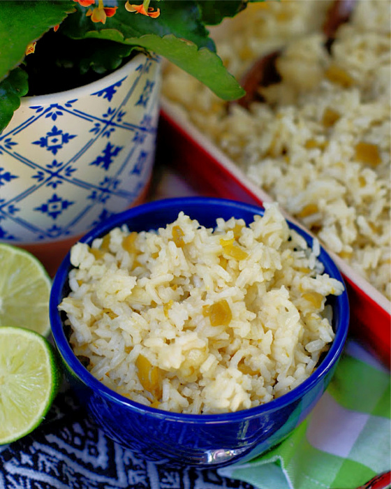 Easy Green Chile Rice