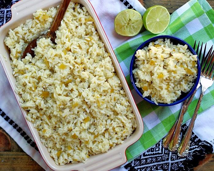 Easy Green Chile Rice Recipe