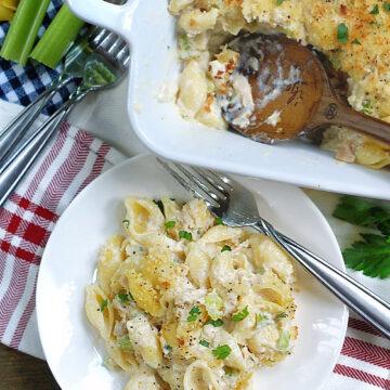 Easy Cheesy & Creamy Tuna Casserole