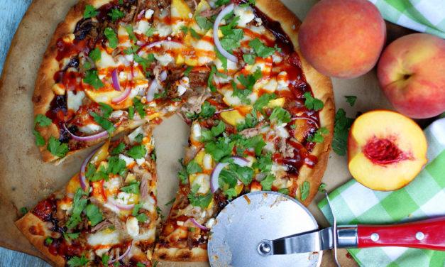 BBQ Pulled Pork & Peach Pizza