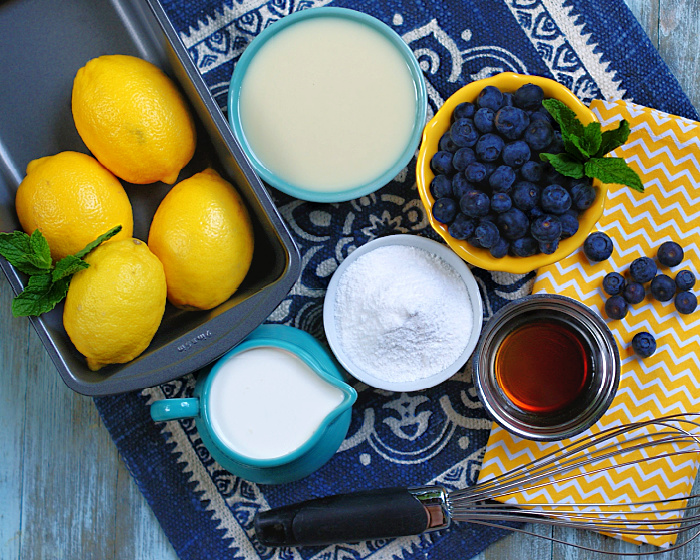 No Churn Blueberry Lemon Ice Cream Ingredients